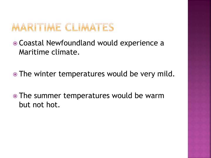 Maritime Climates