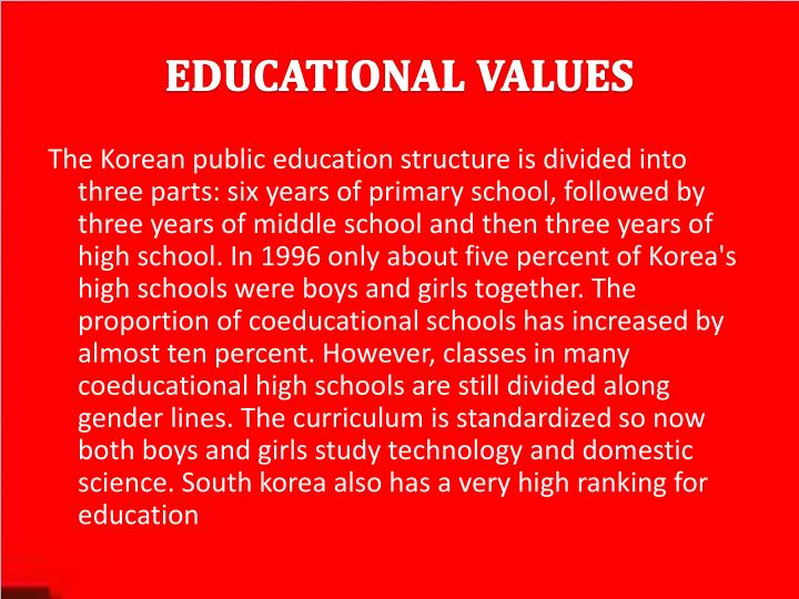 Educational values