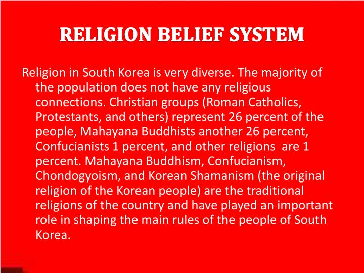 Religion belief system