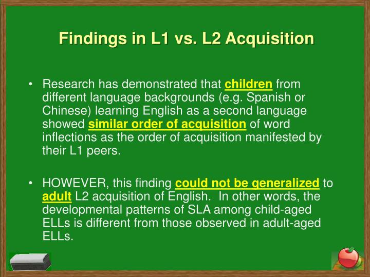 second language acquisition on children The rutgers graduate program in spanish offers a unique phd option in bilingualism and second language acquisition children, bilingual acquisition of language.