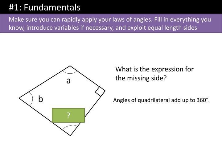#1: Fundamentals