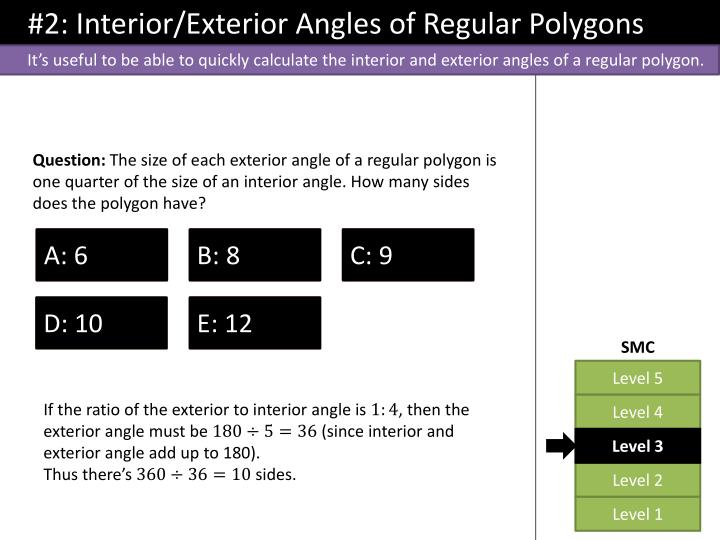 #2: Interior/Exterior Angles of Regular Polygons
