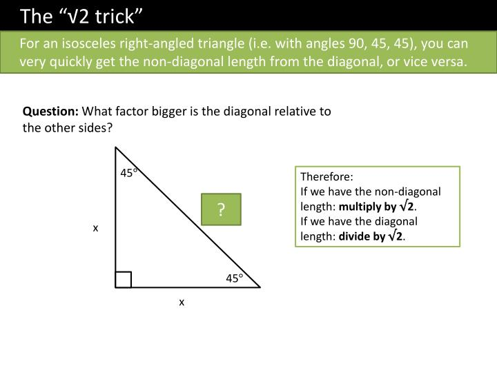 "The ""√2 trick"""