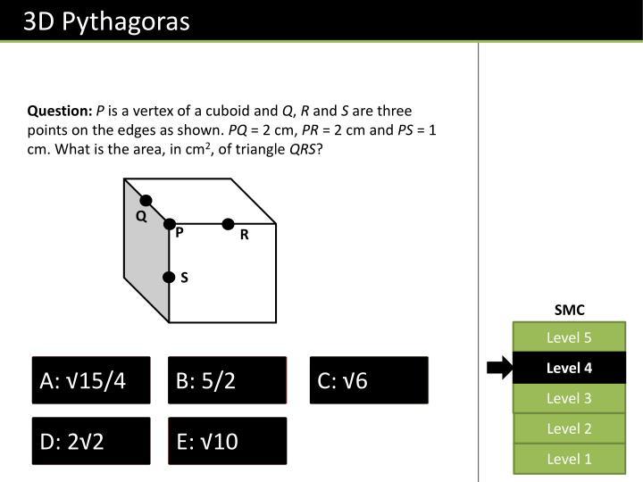 3D Pythagoras