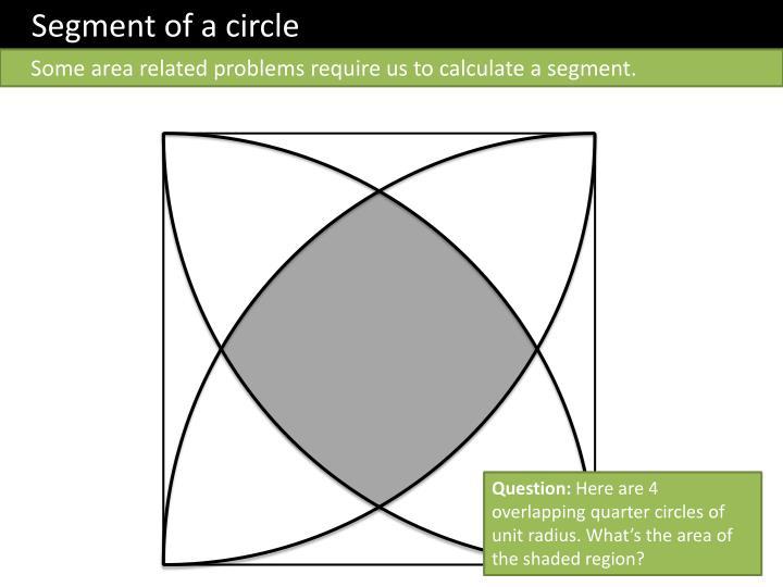 Segment of a circle