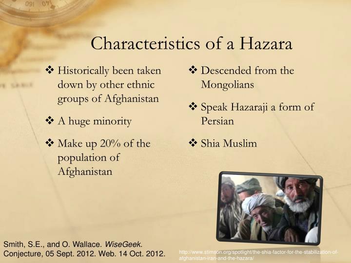 Characteristics of a Hazara