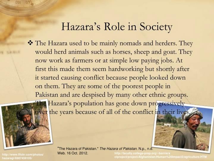 Hazara's Role in Society