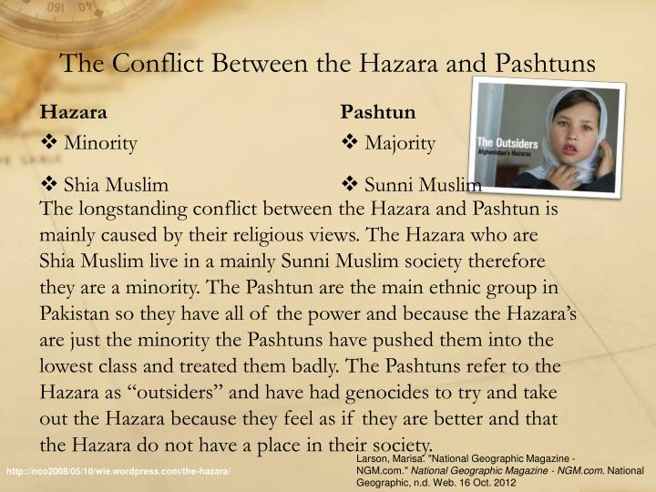 The Conflict Between the Hazara and Pashtuns