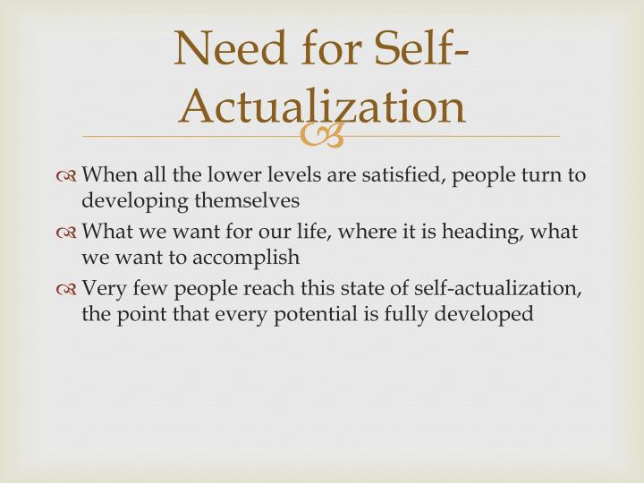 Need for Self-Actualization