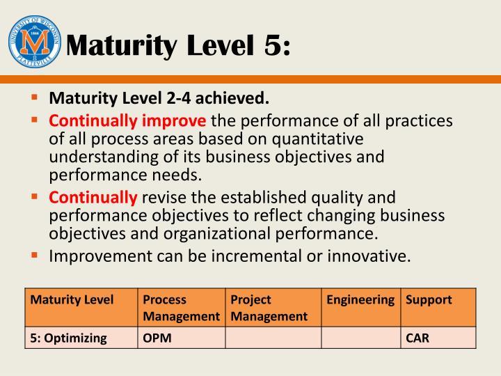 Maturity Level 5: