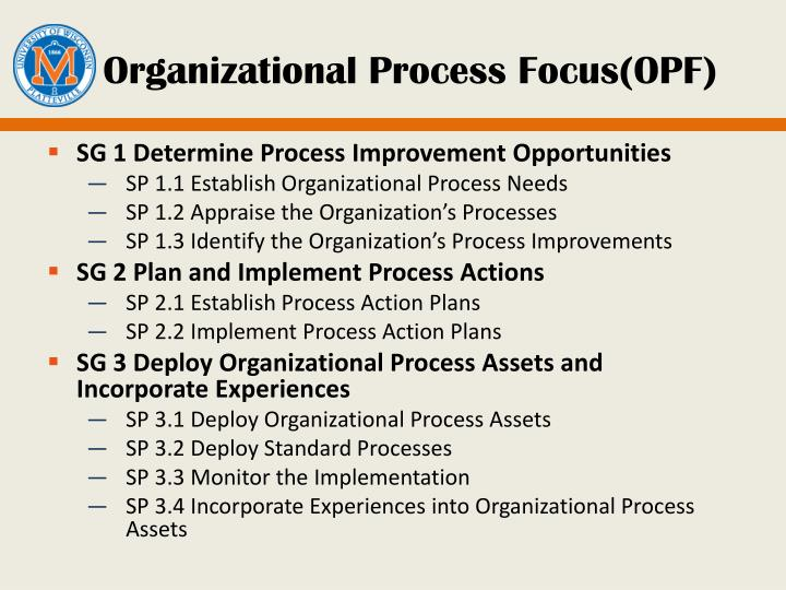 Organizational Process Focus(OPF)