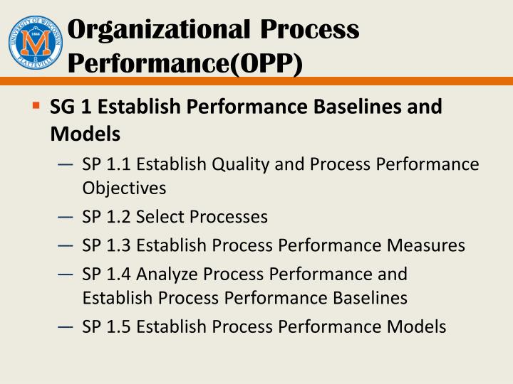 Organizational Process Performance(OPP)