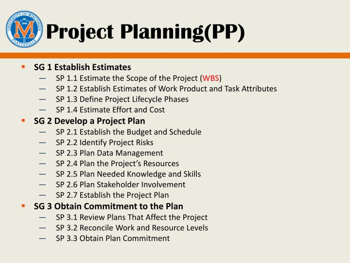 Project Planning(PP)