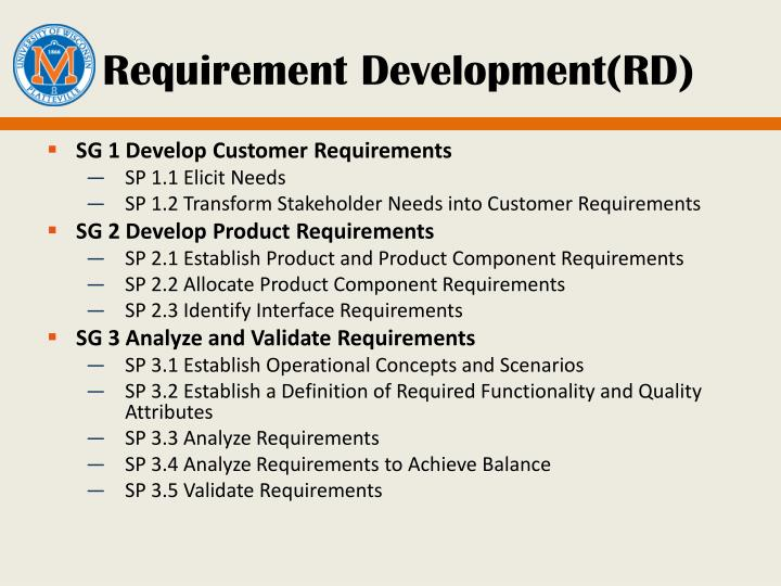 Requirement Development(RD)