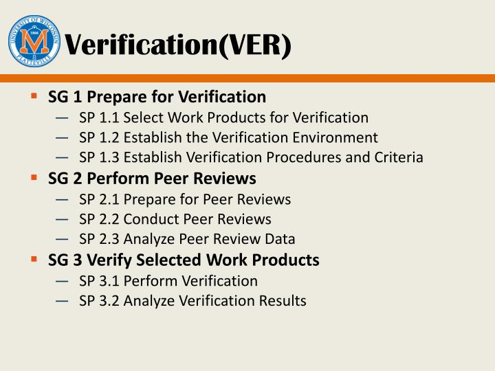 Verification(VER)