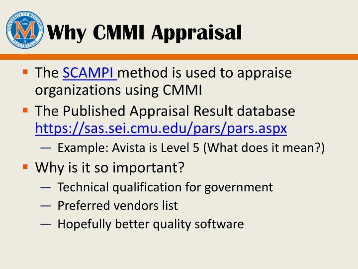 Why CMMI Appraisal