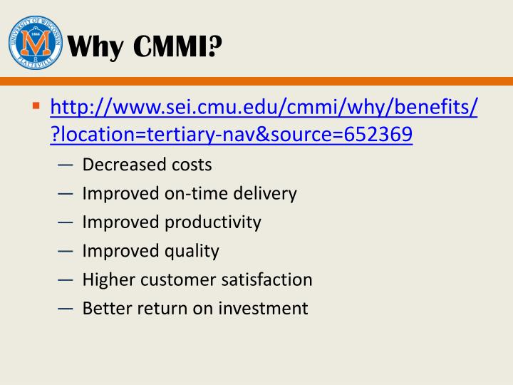 Why CMMI?