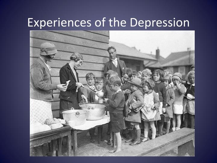 e xperiences of the depression