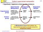 indirect experimental manipulation1