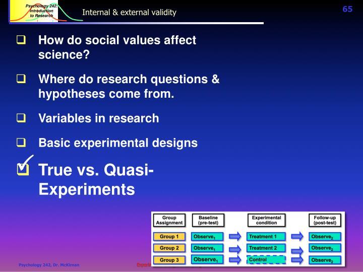 Internal & external validity