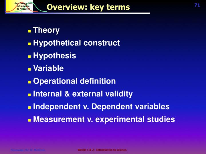 Overview: key terms
