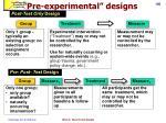 pre experimental designs