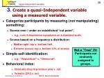quasi independent variables