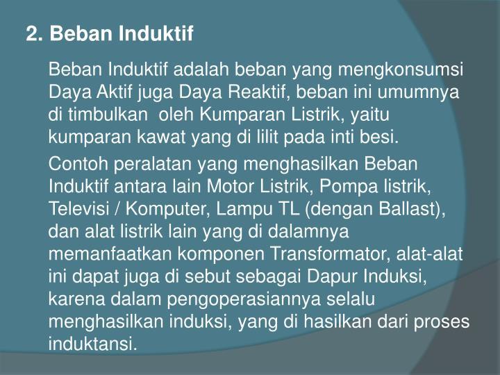 2. Beban Induktif