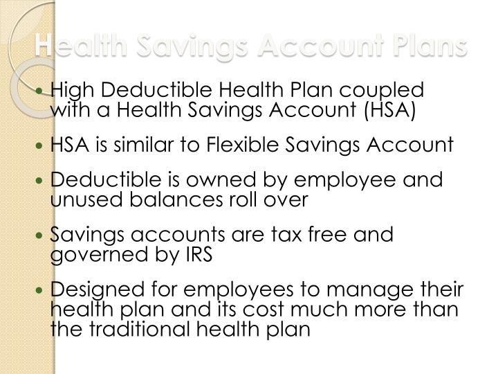 Health Savings Account Plans