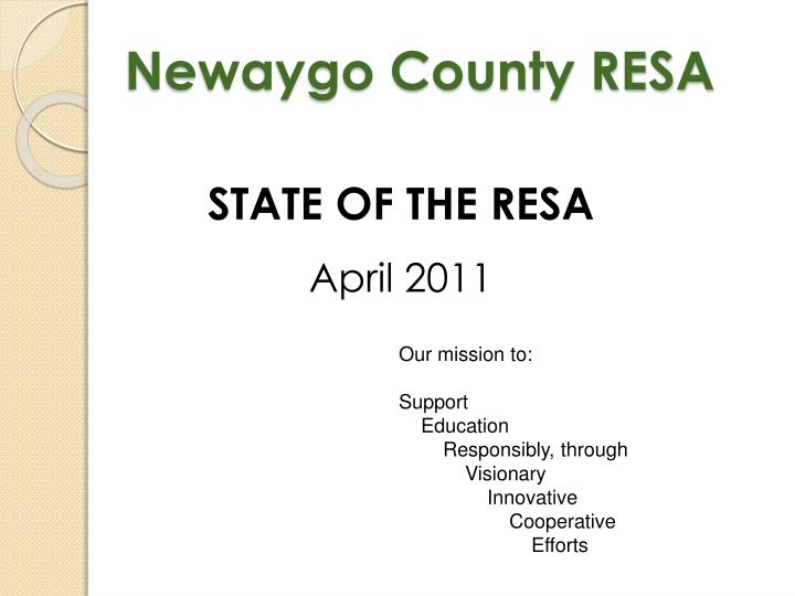 Newaygo county resa