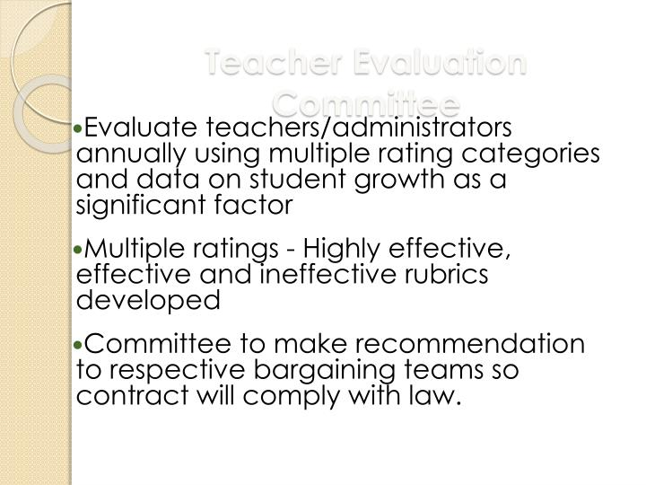 Teacher Evaluation Committee