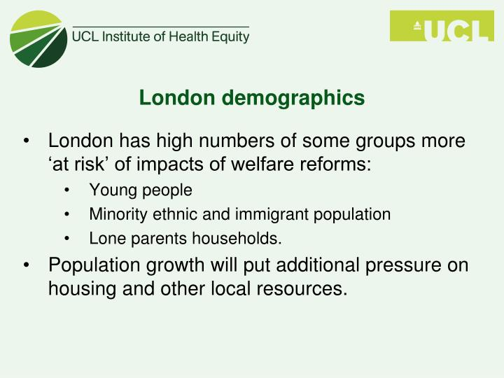 London demographics