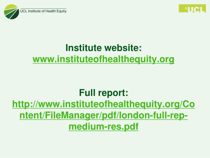 Institute website: