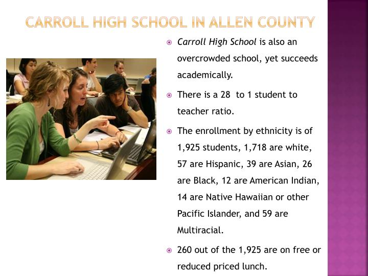 Carroll High School in Allen County