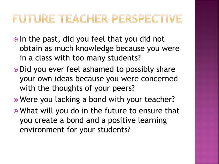 Future Teacher Perspective