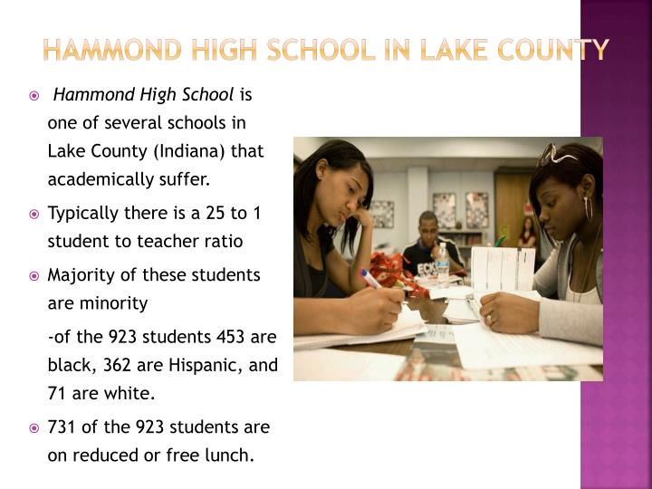 Hammond High School in Lake County
