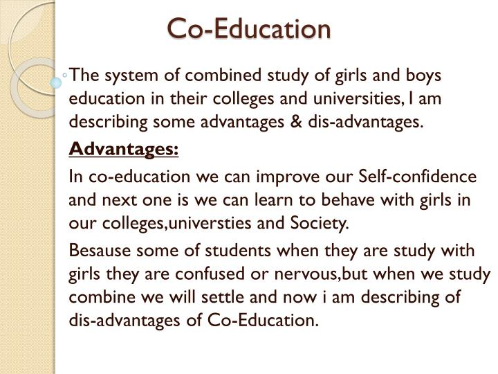 Coeducation And Separate Education Essay