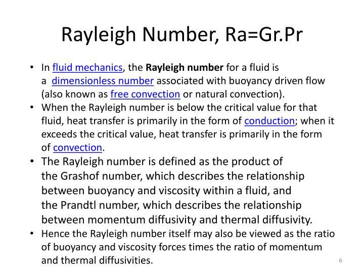 Rayleigh Number, Ra=