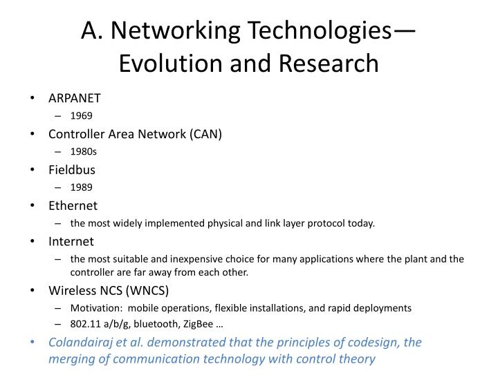 A. Networking Technologies—Evolution and Research