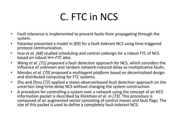 C. FTC in NCS