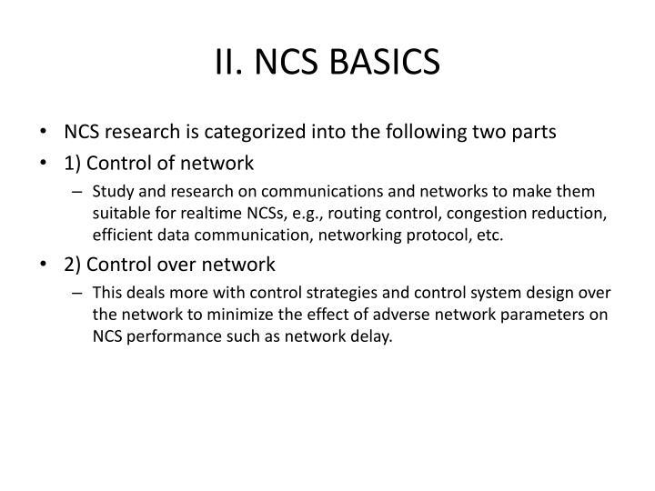 II. NCS BASICS