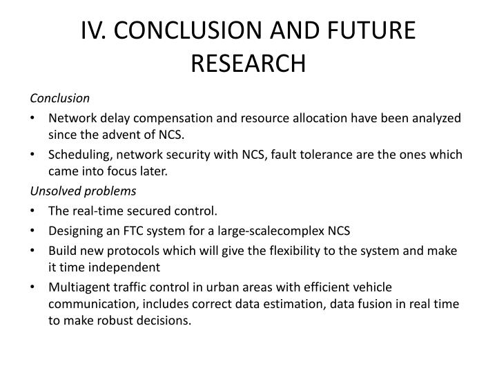 IV. CONCLUSION AND FUTURE RESEARCH