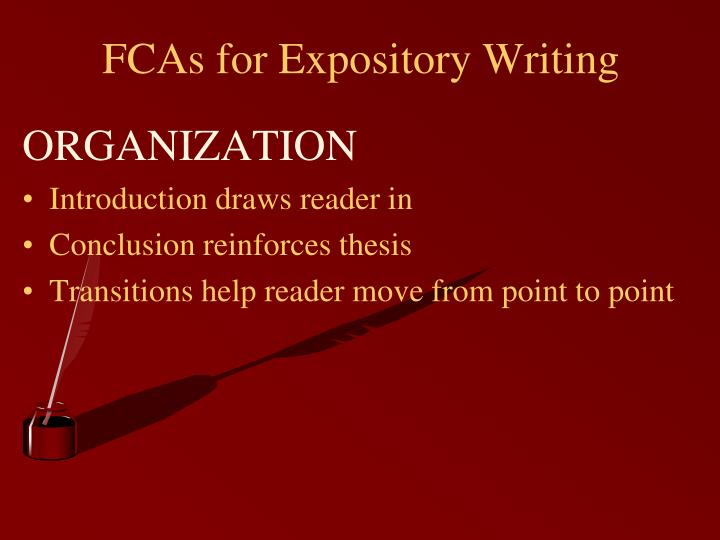 FCAs for Expository Writing