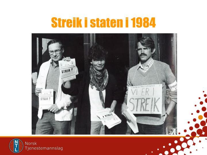 Streik i staten i 1984