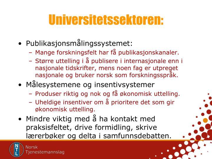 Universitetssektoren: