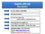 english 100 lab description