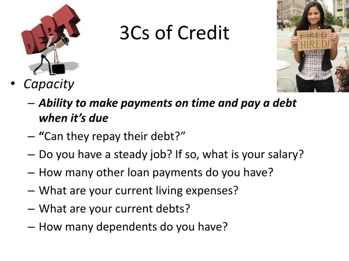 3Cs of Credit