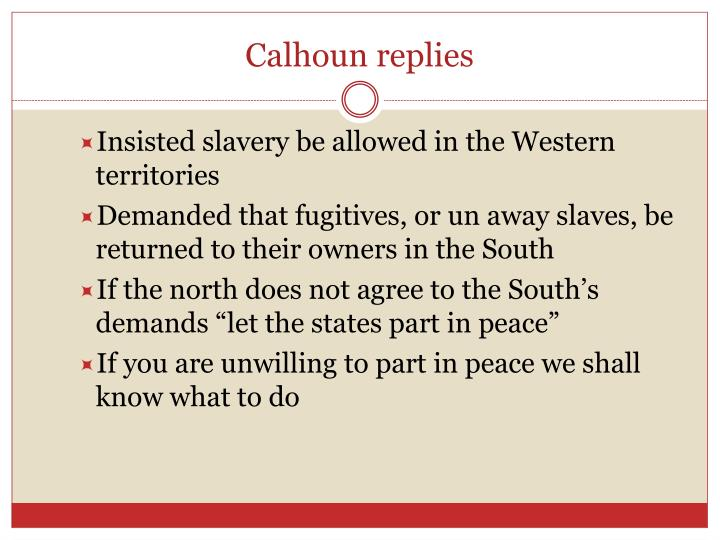 Calhoun replies