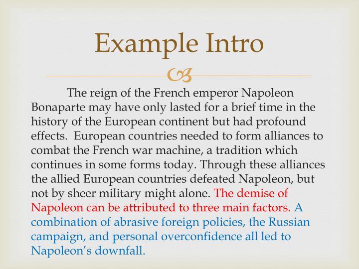 Example Intro