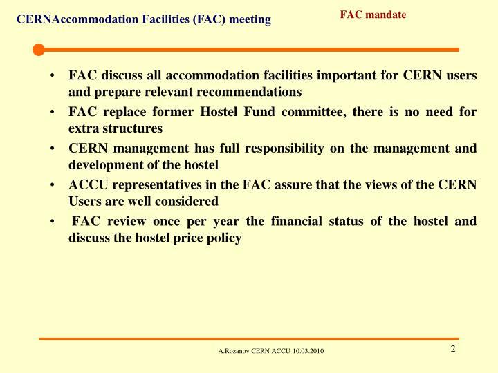 FAC mandate